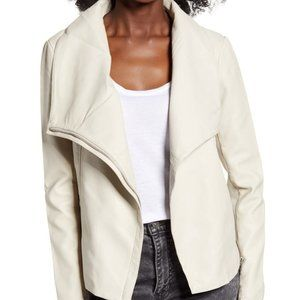 BB Dakota Up to Speed Faux Leather Moto Jacket, XL